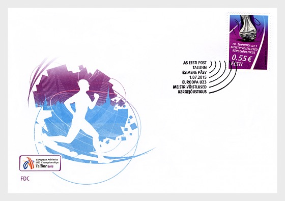 European U23 championships in track and field athletics  - First Day Cover