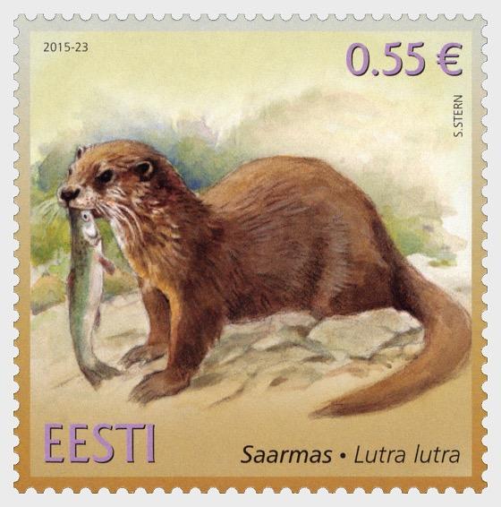 Fauna de Estonia - nutria (Lutra lutra) - Series