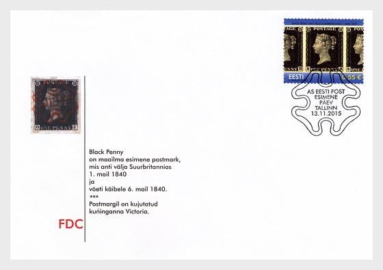 175 años de la publicación del primer sello - Sobre de Primer Dia