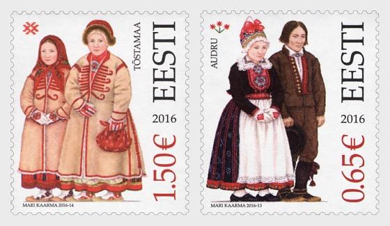 Trajes tradicionales estonios - Audru y Tõstamaa - Series