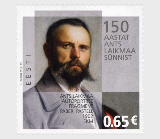 Pintor Ants Laikmaa 150 aniversario del nacimiento - Series