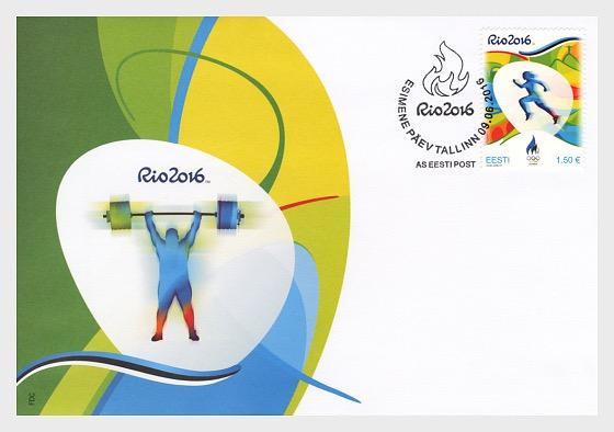 Juegos Olímpicos de Verano XXXI - Río 2016 - Sobre de Primer Dia
