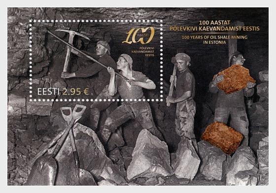 Centenario de la minería de pizarra bituminosa en Estonia - Hojas Bloque
