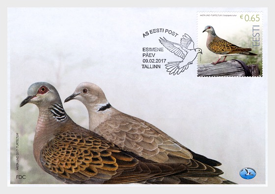 Bird of the Year - Turtledove - First Day Cover