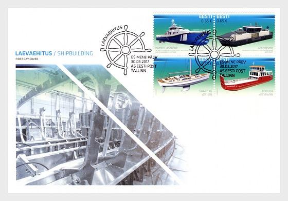 Centenario de la República de Estonia - innovación (construcción naval) - Sobre de Primer Dia