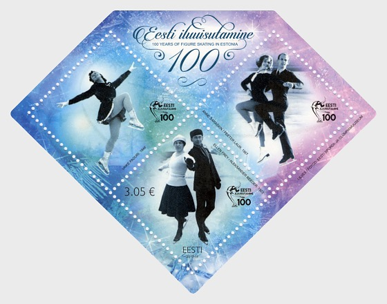 100 years of Estonian figure skating - Miniature Sheet
