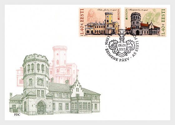 Europa 2017 - Castles - First Day Cover