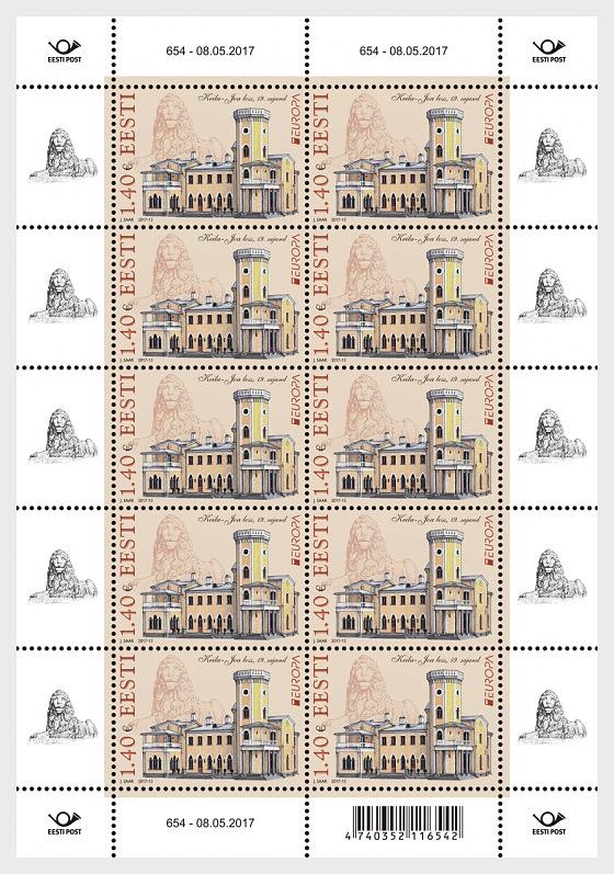 Europa 2017- Castles- Keila-Joa Castle (Sheetlet) - Sheetlets