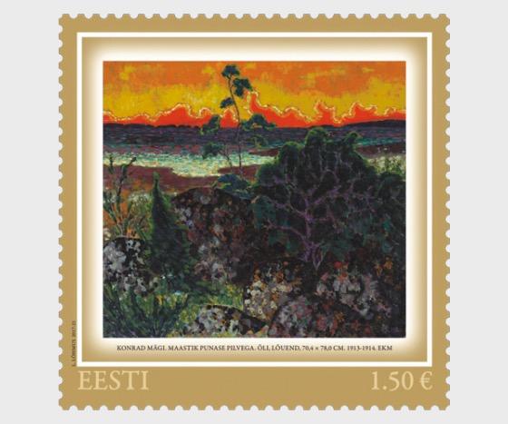 Konrad Mägi - Landscape with a Red Cloud - Set