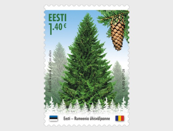 Forests Gold, Forest Species - Joint Issue Estonia - Romania - Set