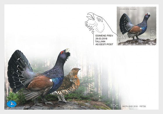 Bird of the Year - Capercaillie - First Day Cover