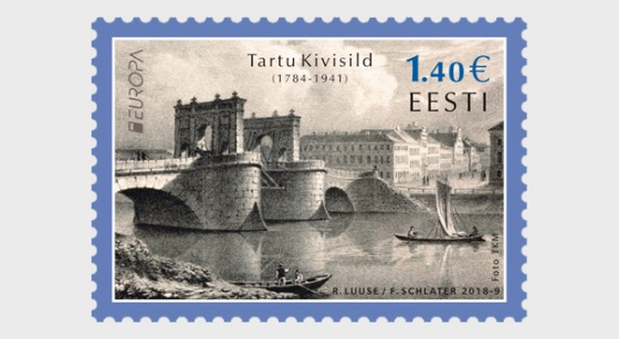 Europa 2018 - (Stone Bridge in Tartu Stamp) - Set