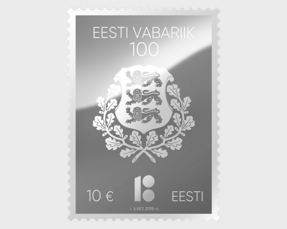 Centenary of the Republic of Estonia silver stamp - Set