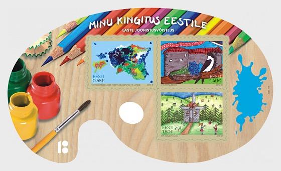 Mi Regalo a Estonia - Concurso de Dibujo Infantil - Hojas Bloque