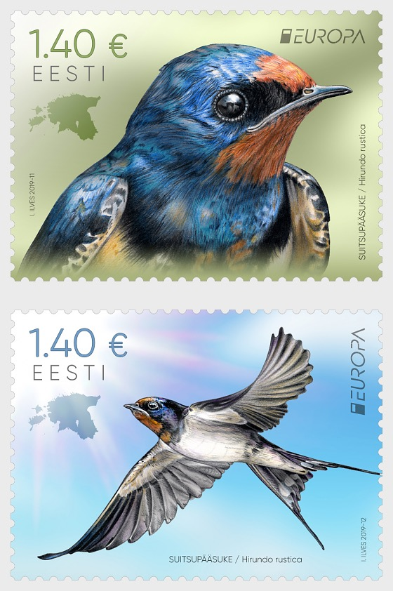 Europa 2019 - National Birds, Barn Swallow - Set