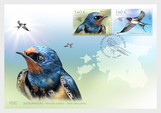 Europa 2019 - National Birds, Barn Swallow - First Day Cover