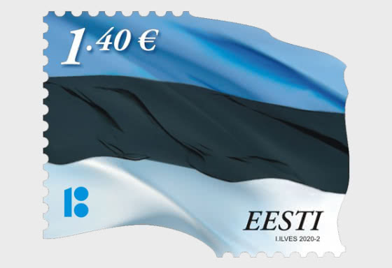 Bandera de Estonia €1.40 Reimpresión - Series