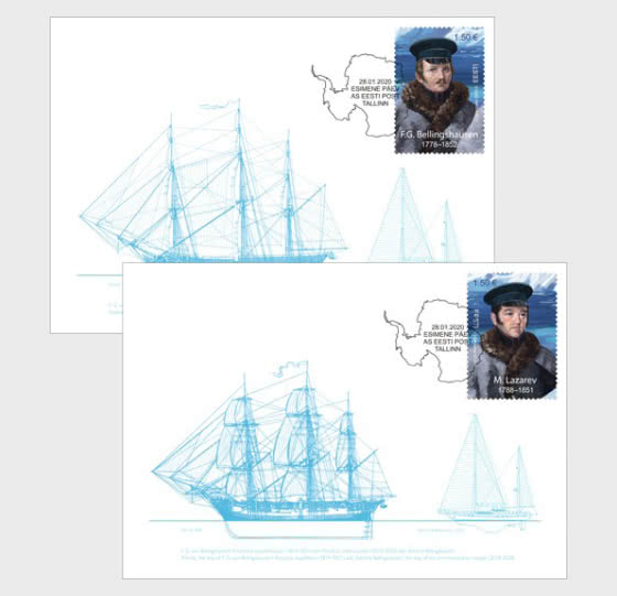Discovery of Antarctica 200, Estonian-Russian Joint Issue - Maxi Cards