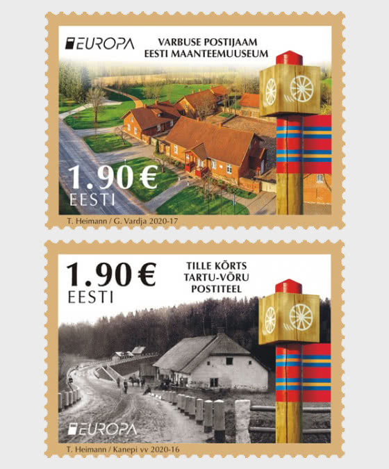 Europa 2020 - Ancient Postal Routes - Set