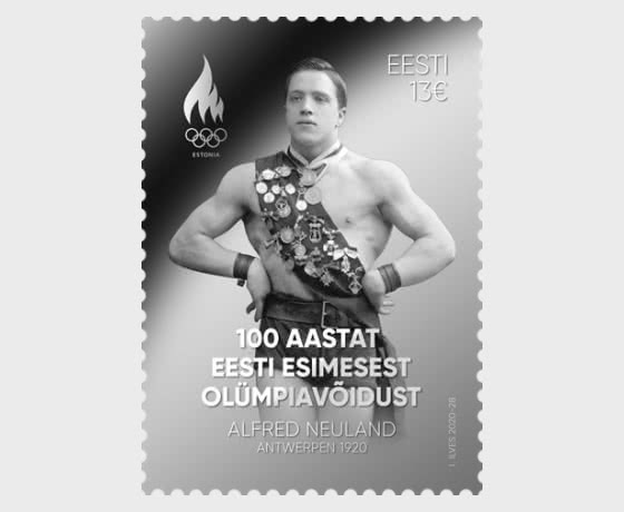 100 Years Since Estonia's First Olympic Victory - Silver Stamp - Set