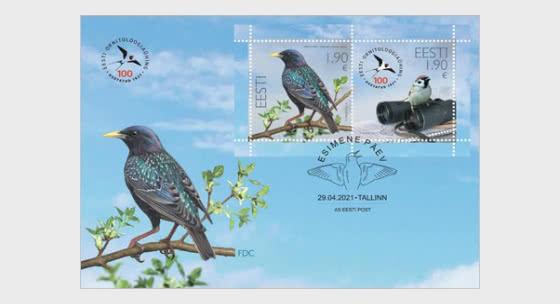 100e Anniversaire De La Société Ornithologique Estonienne - Enveloppes de Premier Jour