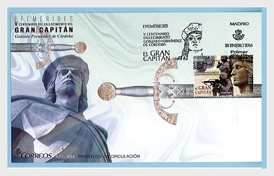 5th centenary of the death of Gonzalo Fernandez of Cordoba - First Day Cover