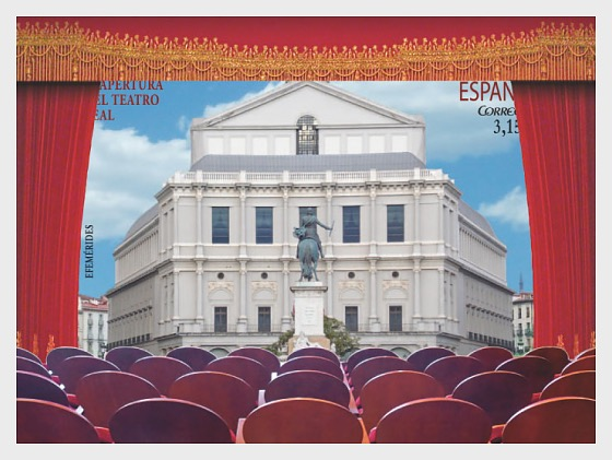 Reopening of the Teatro Real - Miniature Sheet