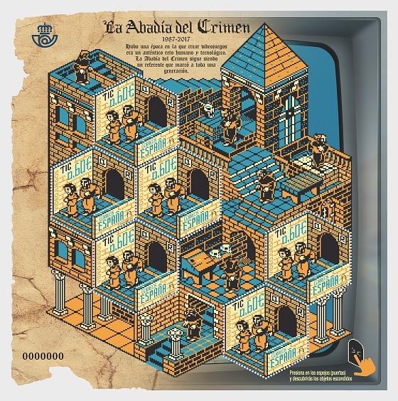 Videogames - La Abadía del Crimen (1987-2017) - Miniature Sheet