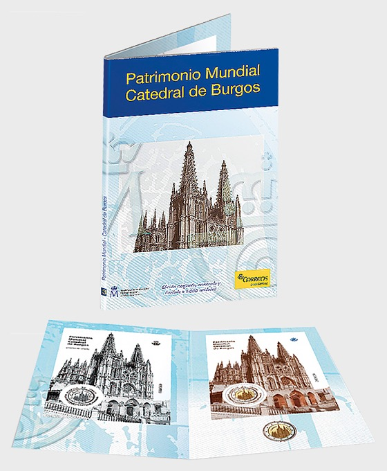 Coin & Stamp - Burgos Cathedral - Coin Card