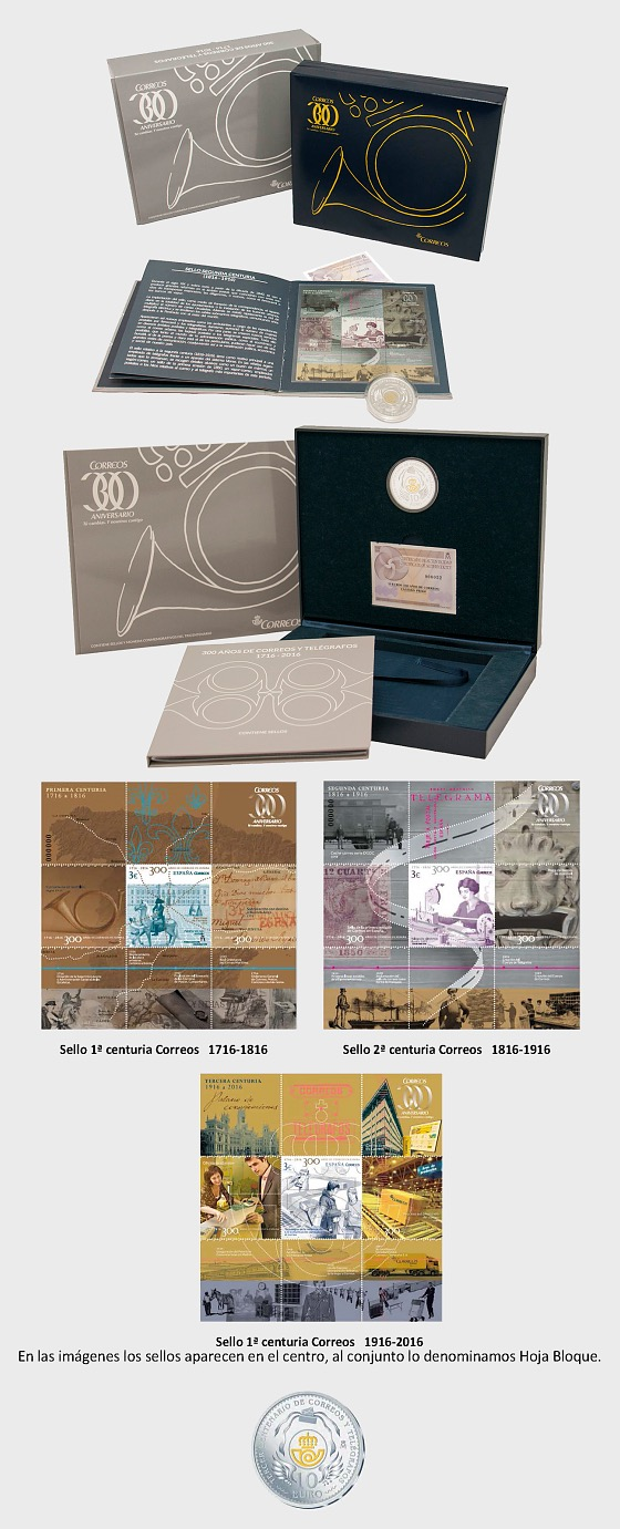 Tricentenary Case -Silver coin + stamps - Silver Coin