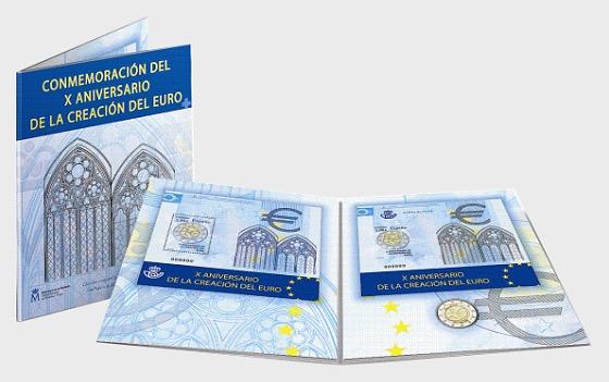 Commémoration X Anniversaire de la Création de l'Euro - Commemoratif