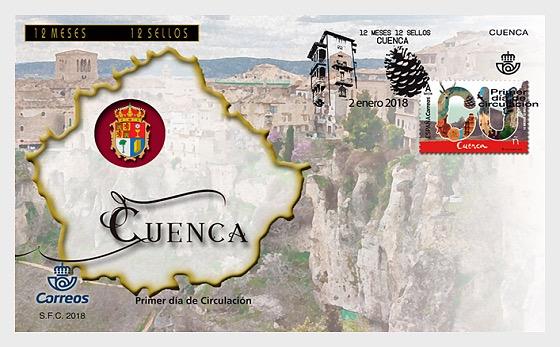 12 meses, 12 sellos - Cuenca - Sobre de Primer Dia