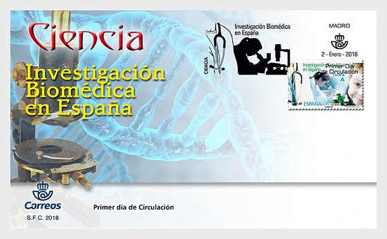 Science - Biomedical Research in Spain - First Day Cover