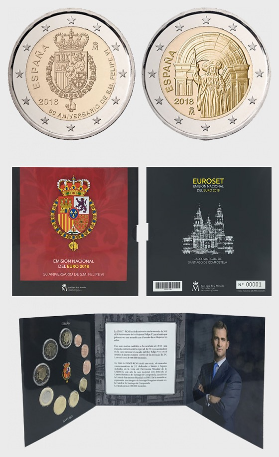 Euro Coinage 2018 - Uncirculated - Coin Card