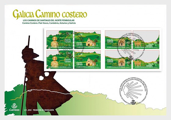 The Routes of Northern Spain - First Day Cover