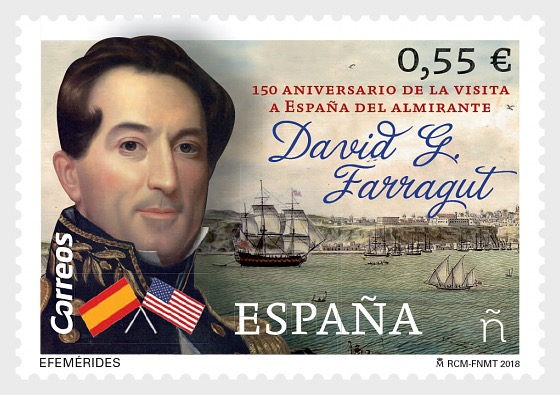 150th Anniversary of Admiral Farragut's Visit to Spain - Set