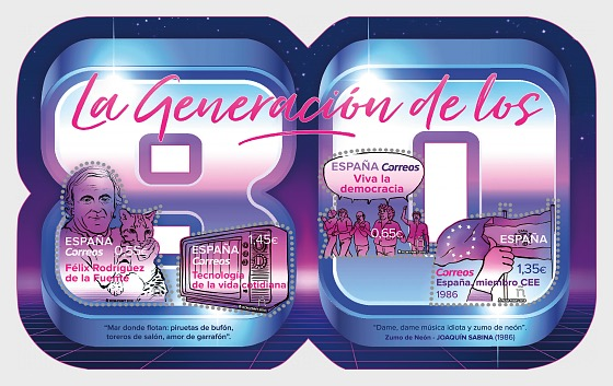 The Generation of the 80s - Miniature Sheet