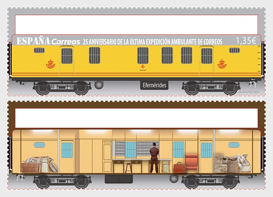 25th Anniversary of the Last Correos Mobile Expedition - Set