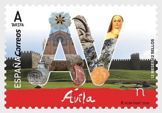 12个月,12枚邮票 - 阿维拉 - 套票