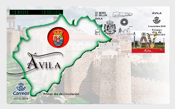 12 Months, 12 Stamps - Avila - First Day Cover
