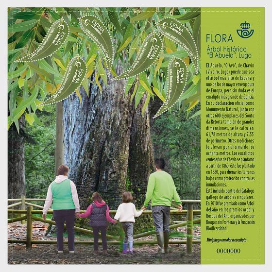 Flora - Historical Tree 'El Abuelo' - Miniature Sheet