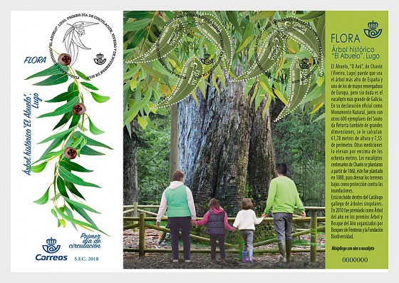 Flora - Historical Tree 'El Abuelo' - First Day Cover
