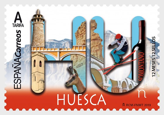12 Months, 12 Stamps - Huesca - Set
