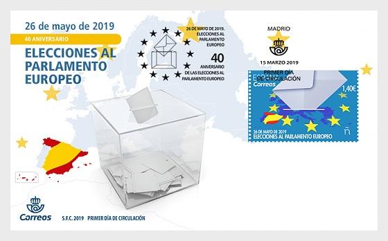 40 Aniversario de las elecciones al Parlamento Europeo - Sobre de Primer Dia