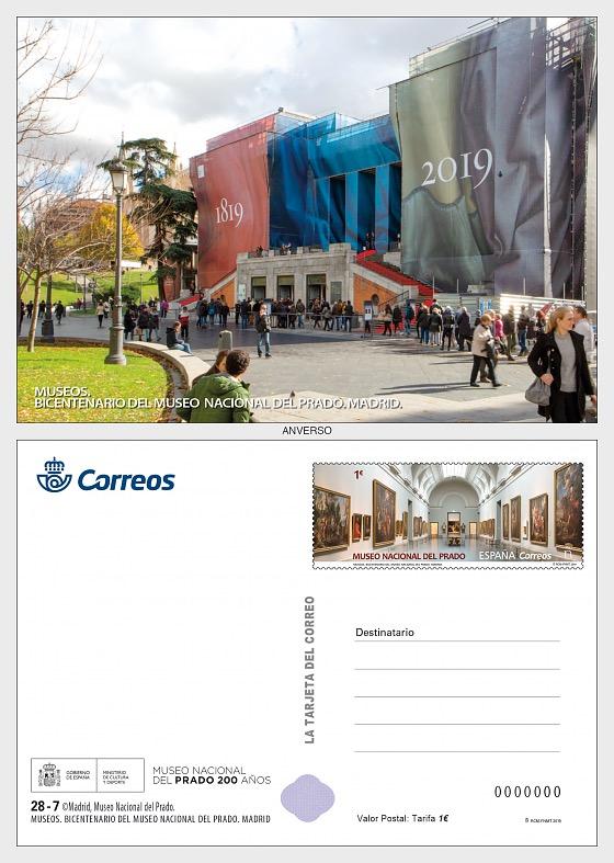 Musées - Bicentenaire du Museo Nacional del Prado - Carte postale