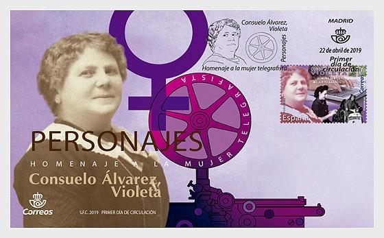 Consuelo Álvarez - Violeta - Hommage à une femme télégraphiste - Enveloppes de Premier Jour