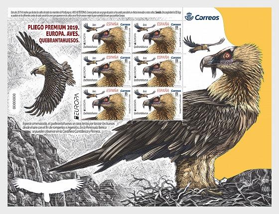 Europa 2019 - Aves - Quebrantahuesos - Mini Hojas