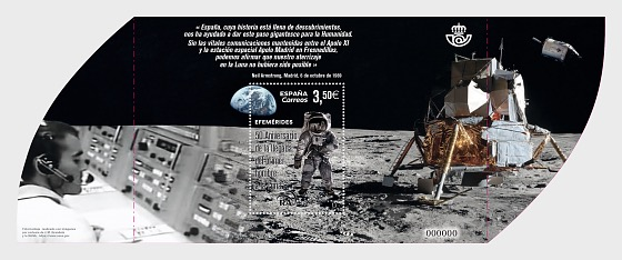 50th Anniversary of the First Moon Landing - CTO - Miniature Sheet CTO