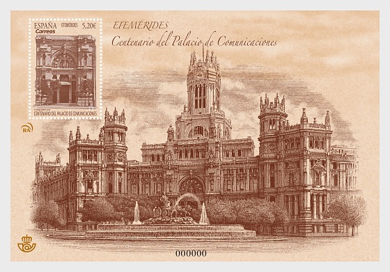 Centenary of Cibeles Palace - Mint - Miniature Sheet