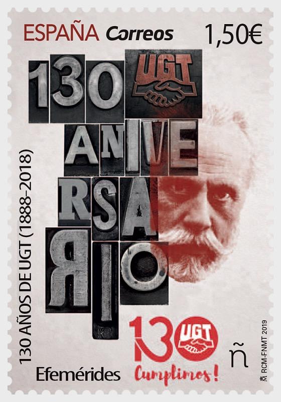 纪念日,UGT 130周年(1888-2018) - 套票